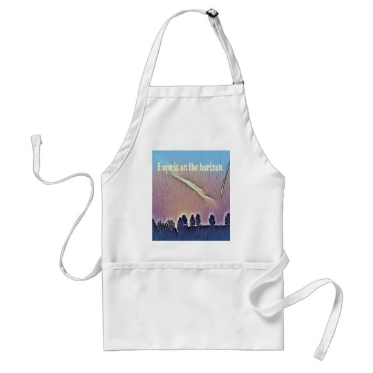 Artistic Landscape Hope On Horizon Quote Standard Apron