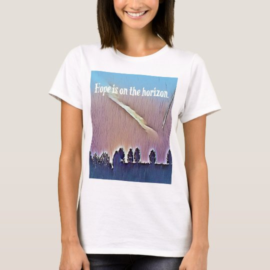 Artistic Landscape Hope On Horizon Quote T-Shirt