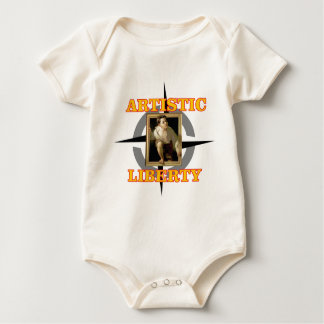 artistic liberty boy leaves painting baby bodysuit