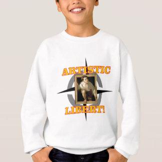 artistic liberty boy leaves painting sweatshirt