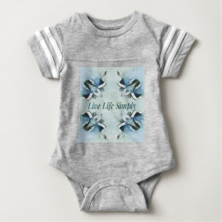 Artistic Light Airy Blue Green Positive Pattern Baby Bodysuit