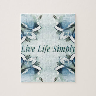 Artistic Light Airy Blue Green Positive Pattern Jigsaw Puzzle