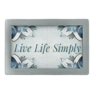 Artistic Light Airy Blue Green Positive Pattern Rectangular Belt Buckles