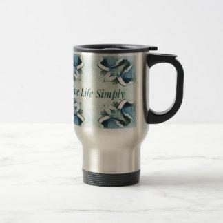 Artistic Light Airy Blue Green Positive Pattern Travel Mug