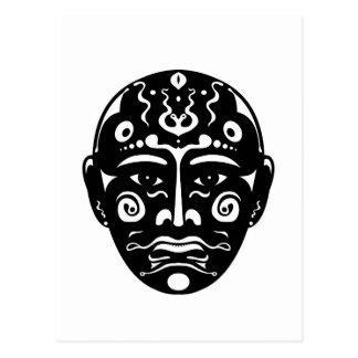 Artistic Mask Postcard