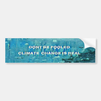 Artistic Melting Glacier 'Climate Change Is Real' Bumper Sticker