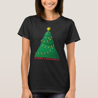 Artistic Merry Christmas Tree T-Shirt