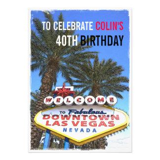 Artistic Modern Las Vegas Modern Birthday Party Cards