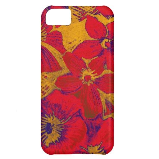 Artistic modern Summer Flowers iPhone 5C Case