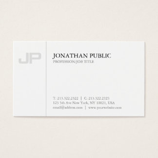 Artistic Monogram Plain Creative Design Luxury Business Card