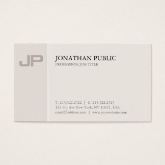 Artistic Monogrammed Plain Creative Design Luxury Business Card