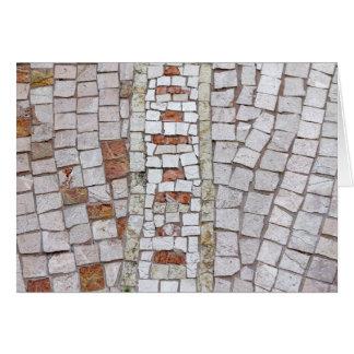 artistic mosaic card