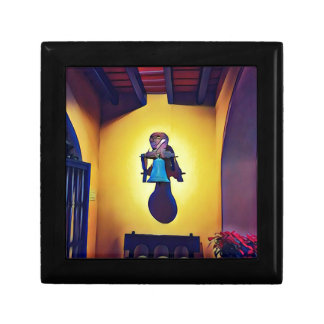 Artistic Mounted Bell Naive Of Church Small Square Gift Box
