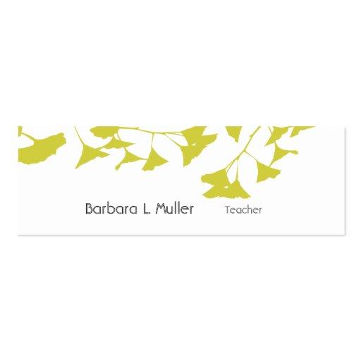 Artistic Nature Golden Ginkgo Business Cards