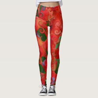 Artistic Organic Swirl Leggings