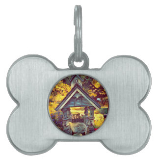 Artistic Painted Photographic Outdoor Birdfeeder Pet Tag