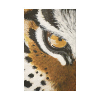 Artistic painted tiger's eye design stretched canvas print