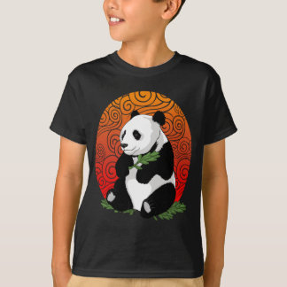 Artistic Panda Bear Eating Vector  Illustration T-Shirt