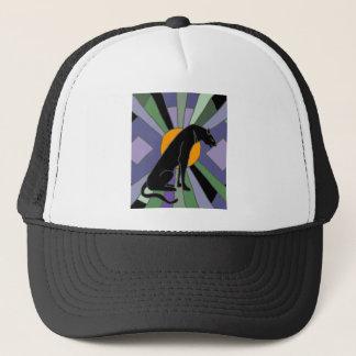 Artistic Panther Cat Art Deco Design Trucker Hat