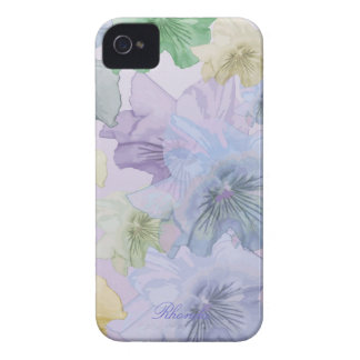 Artistic Pastel Flowers iPhone 4 Case