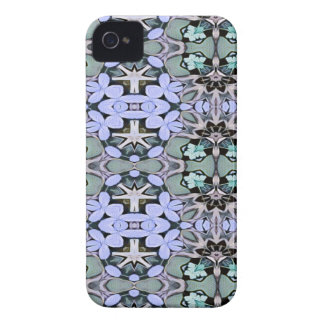 Artistic Pastel Green Periwinkle Abstract Pattern iPhone 4 Cover