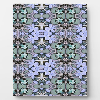 Artistic Pastel Green Periwinkle Abstract Pattern Plaque