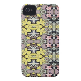 Artistic Pastel Yellow Dusty Rose Abstract Pattern iPhone 4 Case