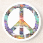 Artistic Peace Sign Drink Coasters