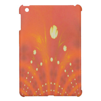 Artistic Peach Yellow Suns Fantasy Worlds Cover For The iPad Mini