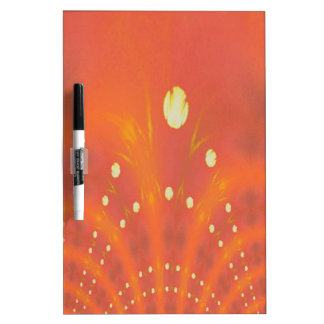 Artistic Peach Yellow Suns Fantasy Worlds Dry Erase Board