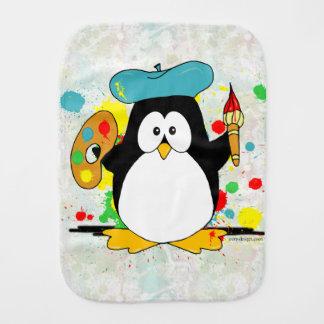 Artistic Penguin Burp Cloth