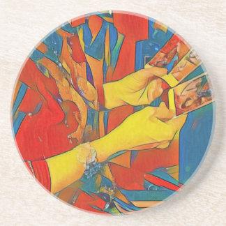 Artistic Physic Tarot Reading Coaster
