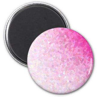 artistic pink base 6 cm round magnet