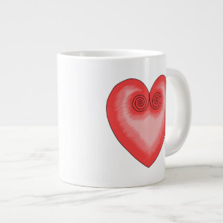 Artistic Pink Heart / Love Jumbo Mug