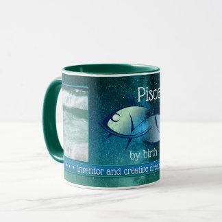 Artistic Pisces Personalized Photo Mug