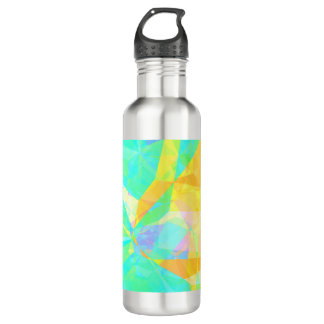 Artistic Polygon Painting Abstract Background Art 710 Ml Water Bottle