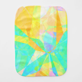 Artistic Polygon Painting Abstract Background Art Burp Cloth