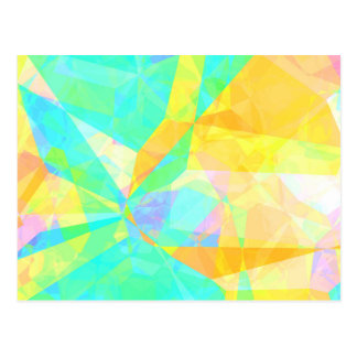 Artistic Polygon Painting Abstract Background Art Postcard