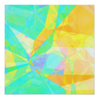 Artistic Polygon Painting Abstract Background Art Poster