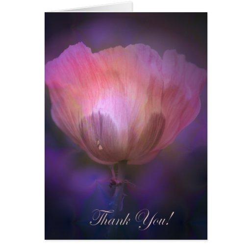 Artistic Poppy Thank You card