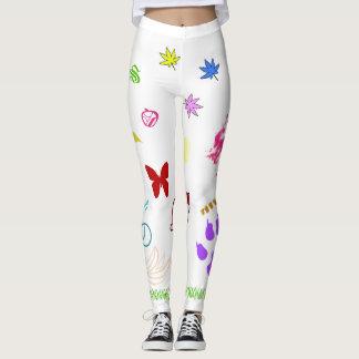 Artistic printed leggings
