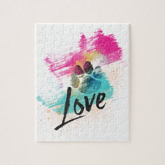 Artistic Puppy Love Jigsaw Puzzle