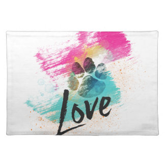 Artistic Puppy Love Placemats