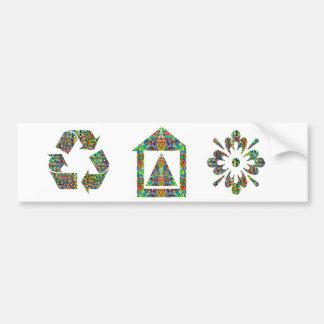 Artistic Pyramid House Car Bumper Sticker