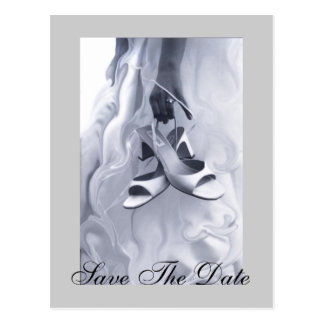 Artistic Ready to Dance Save The Date Postcard