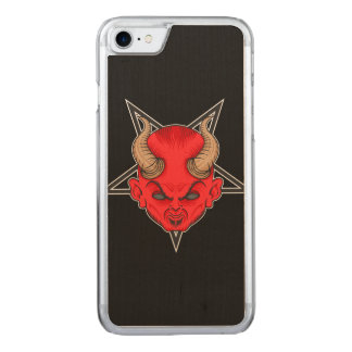 Artistic Red Devil Carved iPhone 7 Case
