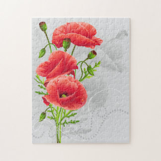 Artistic Red Poppies Puzzle