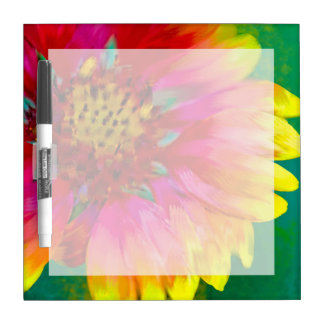 Artistic rendition of Indian Blanket flower Dry Erase White Board