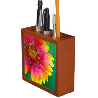 Artistic rendition of Indian Blanket flower Pencil Holder