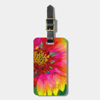 Artistic rendition of Indian Blanket flower Tags For Luggage